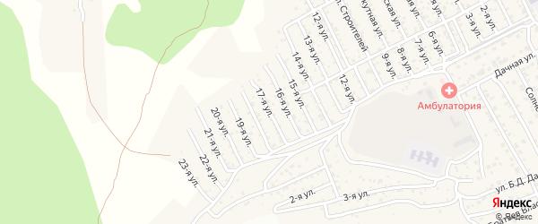 2-й квартал 17-я улица на карте территории СНТ Багульника с номерами домов