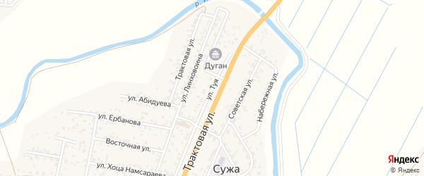 Улица Туя на карте улуса Нур-селения с номерами домов