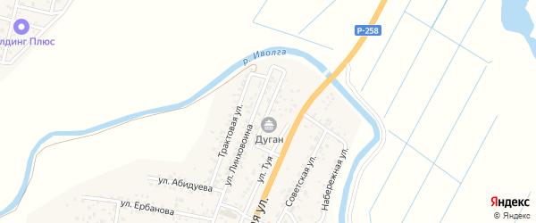 Переулок Одон на карте улуса Нур-селения с номерами домов