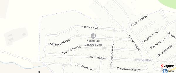 Мраморная улица на карте Улан-Удэ с номерами домов
