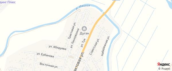 Федеральная улица на карте улуса Нур-селения с номерами домов