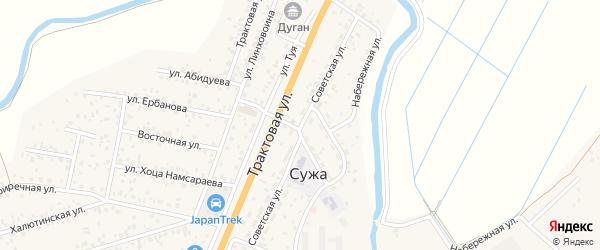 Советская улица на карте села Сужа с номерами домов