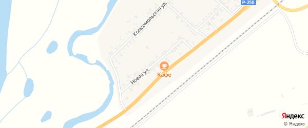 Новая улица на карте села Вознесеновка с номерами домов