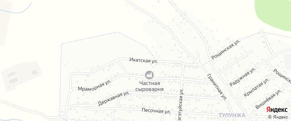 Икатская улица на карте Улан-Удэ с номерами домов