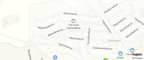 Державная улица на карте Улан-Удэ с номерами домов