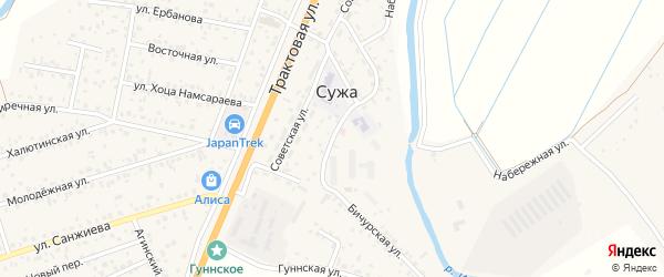 Амбулаторная улица на карте села Сужа с номерами домов