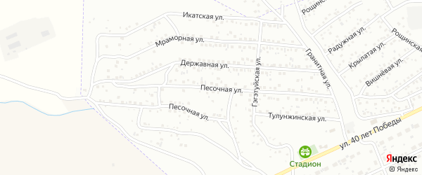 Песочная улица на карте Улан-Удэ с номерами домов