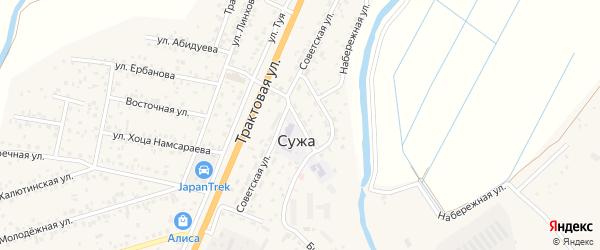 Зоотехническая улица на карте села Сужа с номерами домов