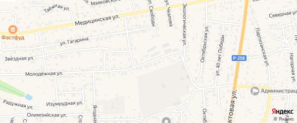Тепличная улица на карте села Сотниково с номерами домов