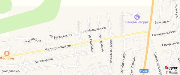 Улица Свободы на карте села Сотниково с номерами домов