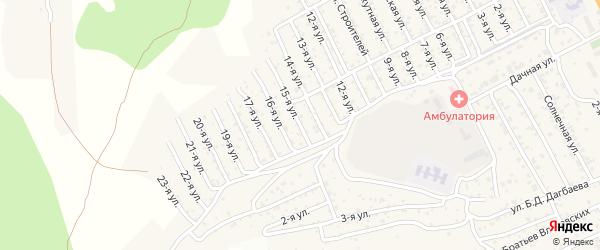 2-й квартал 15-я улица на карте территории СНТ Багульника с номерами домов