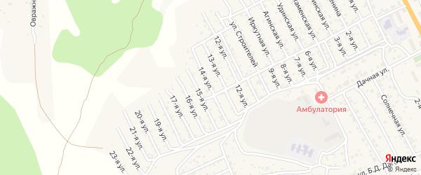 Улица 14-я 2-й квартал (СНТ Багульник) на карте села Сотниково с номерами домов