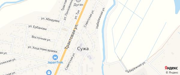 Медицинская улица на карте села Сужа с номерами домов