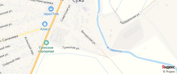 Бичурская улица на карте села Сужа с номерами домов
