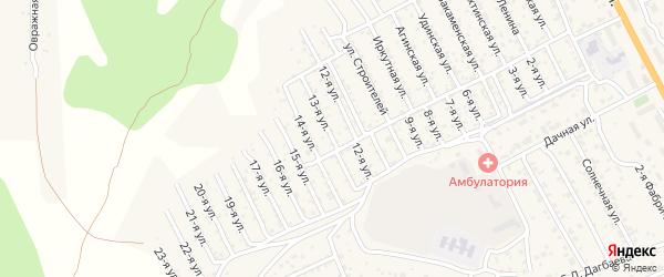 2-й квартал 13-я улица на карте территории СНТ Багульника с номерами домов
