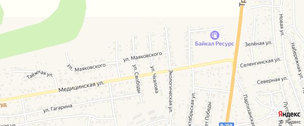 Улица Чкалова на карте села Сотниково с номерами домов