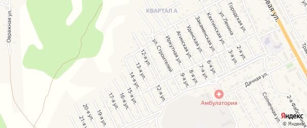Курумканская улица на карте территории ДНТ Овощевода с номерами домов