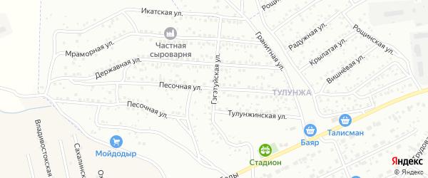 Гэгэтуйская улица на карте Улан-Удэ с номерами домов