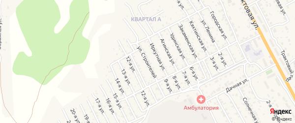 Улица Строителей на карте территории ДНТ Овощевода с номерами домов