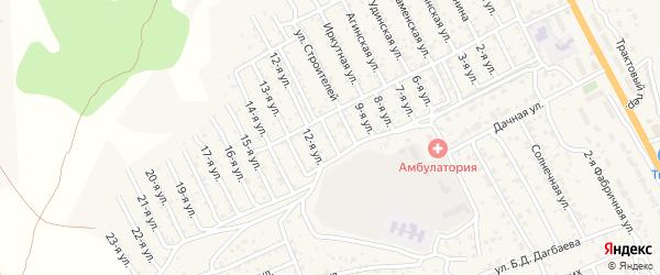 Улица 11-я 1-й квартал (СНТ Багульник) на карте села Сотниково с номерами домов