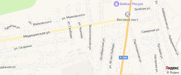 Экологическая улица на карте села Сотниково с номерами домов