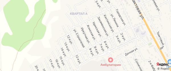 Иркутная улица на карте территории ДНТ Овощевода с номерами домов