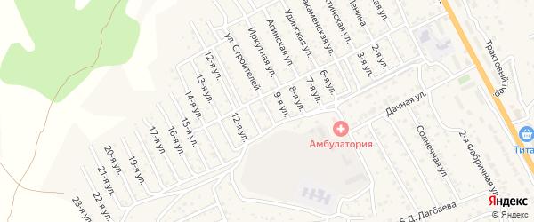 Улица 10-я 1-й квартал (СНТ Багульник) на карте села Сотниково с номерами домов