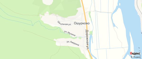 Карта села Ошурково в Бурятии с улицами и номерами домов