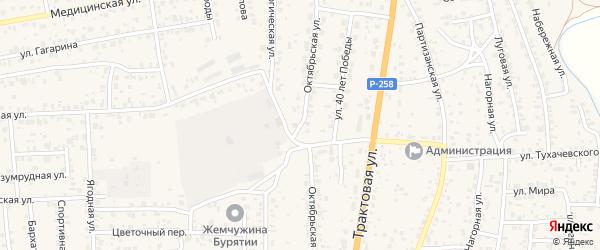 Октябрьская улица на карте села Сотниково с номерами домов