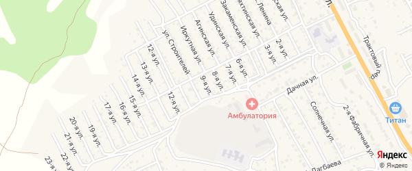 1-й квартал 9-я улица на карте территории СНТ Багульника с номерами домов