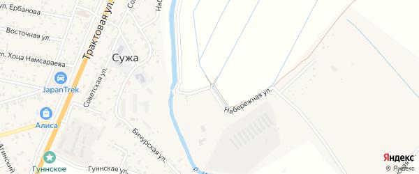 Набережная улица на карте села Сужа с номерами домов