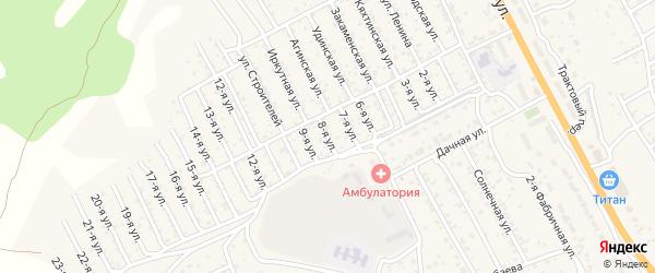 Улица 8 марта на карте села Сотниково с номерами домов