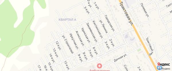 Удинская улица на карте территории ДНТ Овощевода с номерами домов