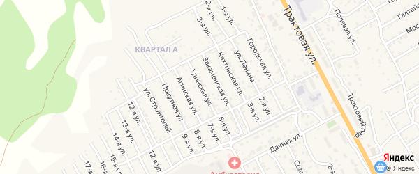 Улица Бориса Дагбаева на карте территории ДНТ Овощевода с номерами домов