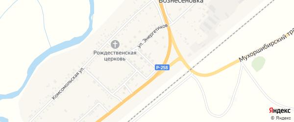 Школьная улица на карте села Вознесеновка с номерами домов