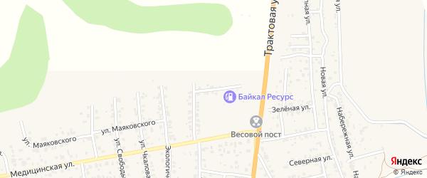 Заправочная улица на карте села Сотниково с номерами домов
