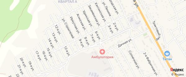 1-й квартал 7-я улица на карте территории СНТ Багульника с номерами домов