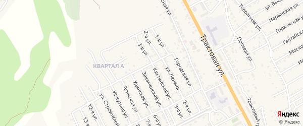 Улица 3-й квартал 3-я (СНТ Багульник) на карте села Сотниково с номерами домов