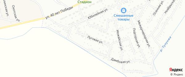 Луговая улица на карте Улан-Удэ с номерами домов