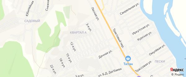 Территория ДНТ Овощевод на карте села Сотниково с номерами домов
