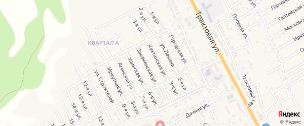 Городская улица на карте территории ДНТ Овощевода с номерами домов