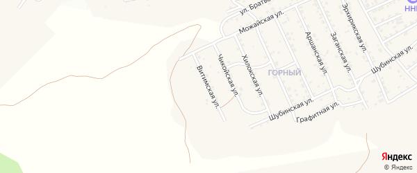 Квартал Горный Витимская улица на карте села Сотниково с номерами домов