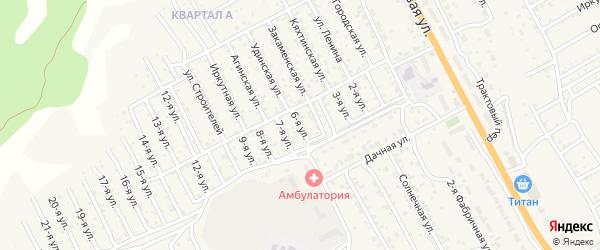 1-й квартал 6-я улица на карте территории СНТ Багульника с номерами домов