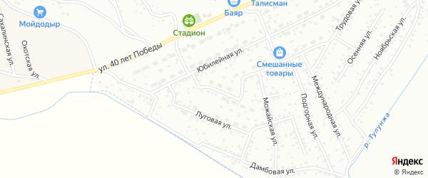 Акшинская улица на карте Улан-Удэ с номерами домов