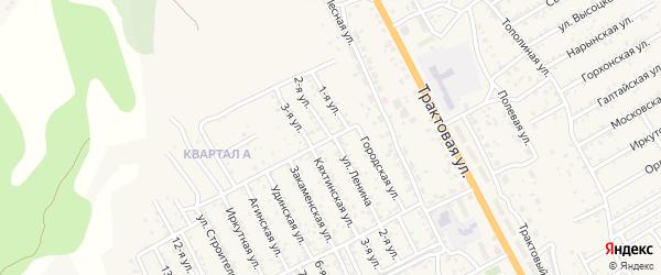 1-й квартал 2-я улица на карте территории СНТ Багульника с номерами домов