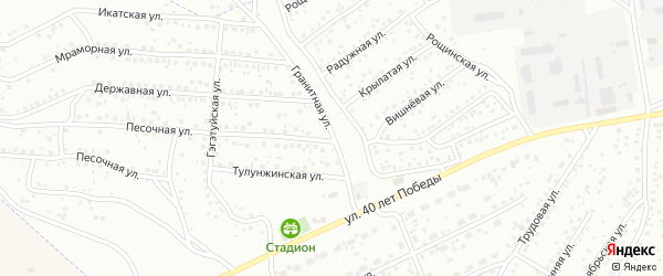 Улица Тулунжа на карте Улан-Удэ с номерами домов