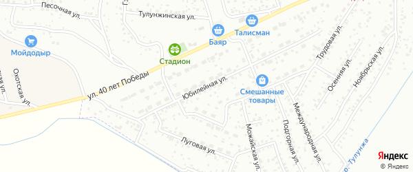 Юбилейная улица на карте Улан-Удэ с номерами домов