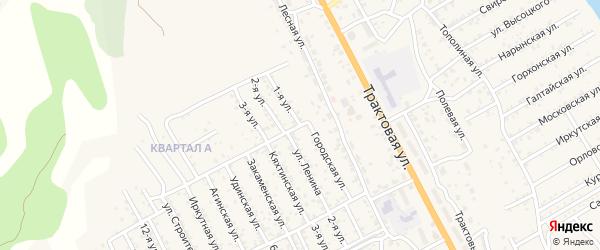 Улица 1-я 1-й квартал (СНТ Багульник) на карте села Сотниково с номерами домов