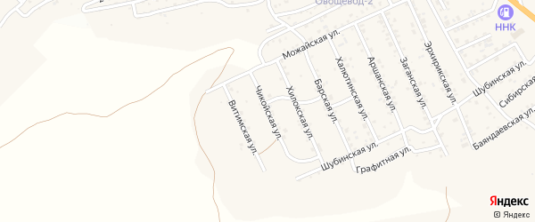Квартал Горный Чикойская улица на карте села Сотниково с номерами домов