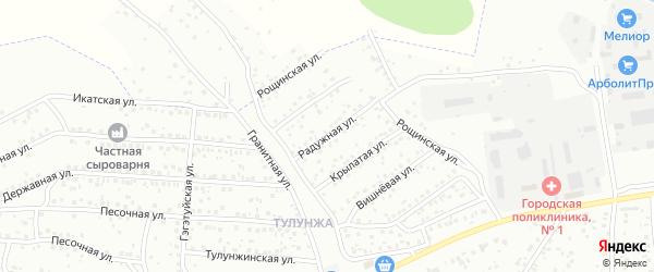 Радужная улица на карте Улан-Удэ с номерами домов